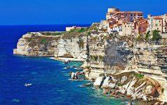Bonifacio panorama - town on rocks, Corsica