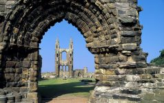 CATHEDRAL AT ST. ANDREWS  FIFE. PIC:PAUL TOMKINS/VisitScotland/SCOTTISH VIEWPOINT Tel: +44 (0) 131 622 7174   Fax: +44 (0) 131 622 7175 E-Mail : info@scottishviewpoint.com This photograph can not be used without prior permission from Scottish Viewpoint.