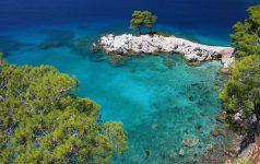 Amarantos Rocks Sporades island, Greek island, Thessaly, Aegean Sea, Greece