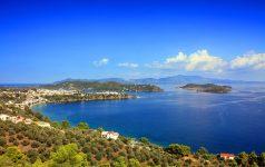 Beautiful bay in Skiathos, Greece.