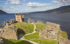 Urquhart Castle commands great views of Loch Ness and can be found beside the village of Drumnadrochit.