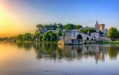 The Pont Saint Benezet and the Palais des Papes in Avignon, Sout