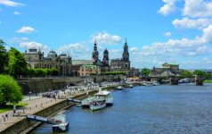 Embankment of the River Elbe in Dresden, Saxony, Germany