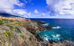 Ntaural beauty of unspoiled La Palma island. view of Los Cancajos. canary islands