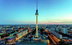 Blick auf die Berliner Innenstadt mit dem Fernsehturm